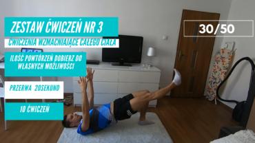 Zestaw ćwiczeń nr 3 – 30/50. Ćwiczenia wzmacniające całe ciało.